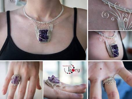 bijuterii handmade ametist natural 17