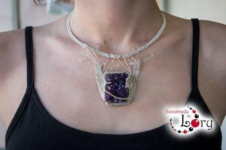 bijuterii handmade ametist natural 22