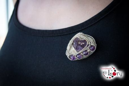 bijuterii handmade ametist natural 8