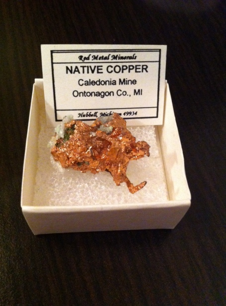 CUPRU NATIV  - expo mineralia bacau 2014